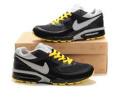 Mens Black Yellow Gray Nike Air Max BW Shoes 267234