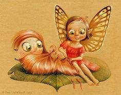 Cute little girl fairy illustrations artworks