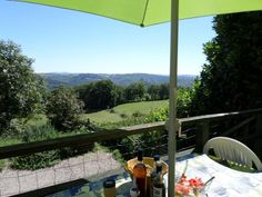 La Singlarie, Midi Pyrenees, France. The superb view from the terrace  http://www.organicholidays.co.uk/at/2304.htm