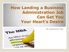 business administration jobs.... any good?
