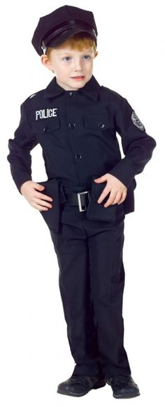 Police Uniform Costume    Pinned for Kidfolio, the parenting mobile app that makes sharing a snap.