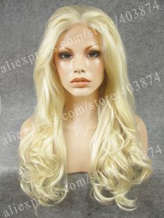 43.34$  Watch here - http://alij0s.worldwells.pw/go.php?t=1782597178 - N7-1001/613# Fashion Show Long Body Wavy Bleach Blonde Colour Synthetic Lace Front Wigs for Cosplay Party Wigs 43.34$