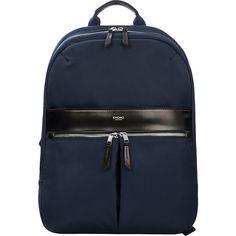 Knomo Mayfair Nylon Mini Beauchamp Backpack - Navy - Travel Backpacks ($149) ❤ liked on Polyvore featuring bags, backpacks, blue, nylon travel bag, padded backpack, navy blue bag, mini bag and travel rucksack