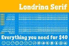Londrina Serif (Font) by Tipos Pereira · Creative Fabrica Police Avec Serif, Google Fonts, Premium Fonts, All Fonts, Cricut Design, Improve Yourself, Serif Font, Creative, Choices
