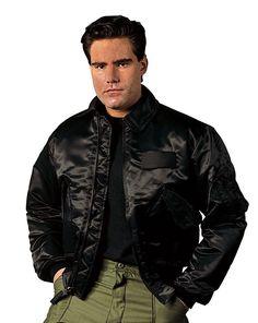 Men's Military CWU-45P Flight Jacket - Black Or Sage Green Tactical Winter Coat