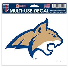 Montana State Bobcats Official NCAA 4.5 inch x 6 inch Car... https://www.amazon.com/dp/B00264AT18/ref=cm_sw_r_pi_dp_x_b1Yizb5VM0JCA