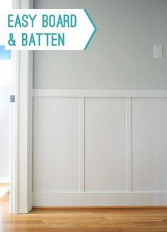 An easy and cheap way to add board & batten to any space (there are photos of each step + videos too).