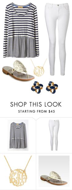 """Casual spring day"" by monogrammed-madison ❤ liked on Polyvore featuring J Brand, Jack Rogers and Lilly Pulitzer"