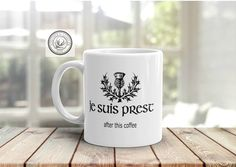 Je Suis Prest Embroidered Pullover Clan Fraser Motto Gifts for Readers