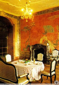 Fürstenstein Castle , dining room - Poland