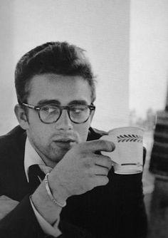 Love the glasses, scruff, & paper coffee cup. Thx Jimmy Dean.