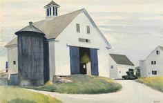 EDWARD HOPPER (1882-1967) BARN AT ESSEX