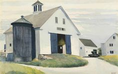 EDWARD HOPPER (1882-1967) BARN AT ESSEX