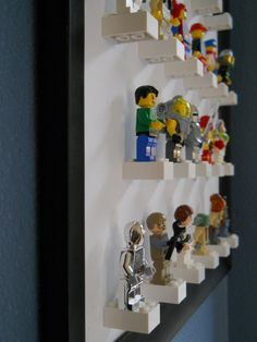 Lego minifigure display by TheLittleManCave on Etsy, $22.00