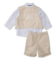 Baby-outfit in beige