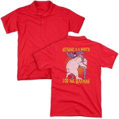 Batman Bear Wrastling Adult Polo Shirt
