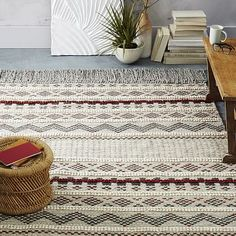 "West Elm | Atlas Wool Rug - Slate Fair Trade. great texture and color. 5x8"" only $349"