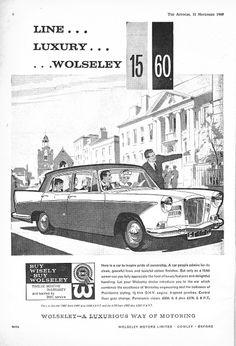 Wolseley 15/60 Motor Car Autocar Advert 1960