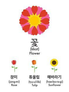 꽃 = flower