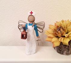 Florence Nightingale Nurse Figurine Nurse Graduation Gift Custom colors www.etsy.com/shop/MusicLadyGifts