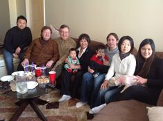 Group photo of my family with long time friend's family