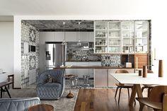 La cocina es el centro de inspiración para todo el departamento.