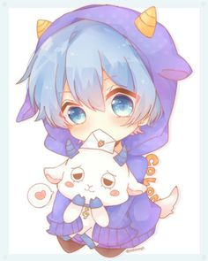 コロン君 Anime Neko, Cute Anime Chibi, Cute Anime Boy, Anime Art, Loli Kawaii, Kawaii Chibi, Kawaii Cute, Dibujos Anime Chibi, Chibi Boy