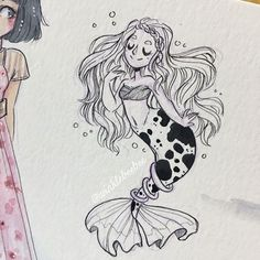 May 19th #dailydrawing [Tiny]. Ok so today's #princebobblesmermay theme was Tiny and I didn't know if that meant a tiny mermaid or a tiny sized drawing, so I just made the drawing really small 😅#artdaily #artstagram #illustrationdaily #inkdrawing #mermay #mermay2018 #illustratenow #abeautifulmessapp
