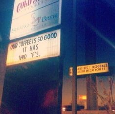 The local coffee a shop loves to mess with McDonald's  Starkville MS - Strange Brew Coffee Shope