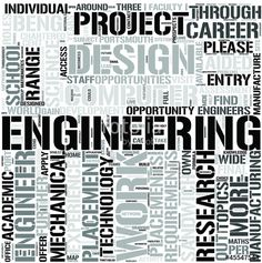Vector: Mechanical Engineering Word Cloud Concept