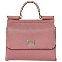 fb5296f3e21 Dolce & Gabbana - Pink Miss Sicily Slim Saffiano Leather Bag - Lyst