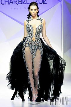Charbel Zoe - Couture - Spring-summer 2014 - http://www.flip-zone.net/fashion/couture-1/independant-designers/charbel-zoe-4261