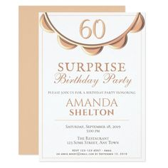 Shop Elegant Necklace Surprise Birthday Party Invitation created by OneLook. Fifty Birthday, 90th Birthday Parties, Birthday Ideas, Create Your Own Invitations, Custom Invitations, Surprise Birthday Invitations, Birthday Design, Party Supplies, Party Shop