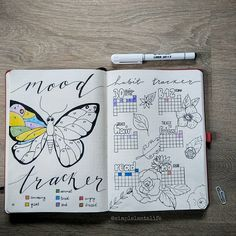 Dozens of Gorgeous Mood Trackers That Will Make Your Soul Smile Bullet Journal Tracker, Bullet Journal Mood, Bullet Journal Inspiration, Bullet Journals, Journal Ideas, Arc Planner, Passion Planner, Happy Planner, Organization Bullet Journal