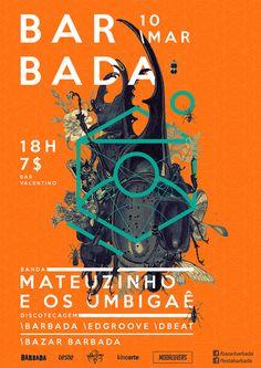 Barbada bar event poster.