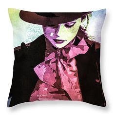Throw Pillow with Selena Gomez #SelenaGomez #celebrity #pillow #art #popart