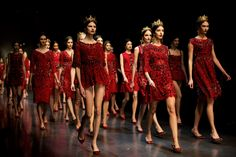 Stunning red dresses // Dolce & Gabbana Fall/Winter 2013 « The Sartorialist