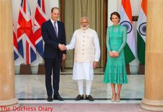 Prince William and The Duchess of Cambridge Meet India's Prime Minister.