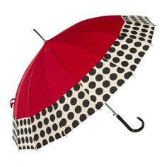 Amazon.com: ShedRain Umbrellas Rain Essentials 16 Panel Auto Open Stick Umbrella, Red/Spot On, One Size: Clothing