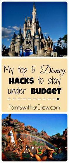 Top 5 Disney World tips and tricks. These Disney hacks are good for trying to keep down costs and stick to a Disney vacation budget