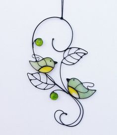 Suncatcher Stained Glass Birds Couple Love Home decor Gift Article Gallery Ideas] . Stained Glass Ornaments, Stained Glass Birds, Stained Glass Suncatchers, Stained Glass Crafts, Faux Stained Glass, Stained Glass Lamps, Stained Glass Patterns, Clear Ornaments, Fused Glass