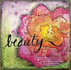 "donna downey stencil + panpastel = ""beauty"" canvas"