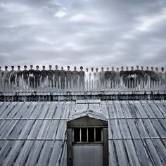 Artist JR photograph of ballet dancers on the roof of the Paris Opera.