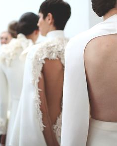 somethingvain:  stephane rolland haute couture s/s 2013, backstage