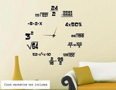 Maths Geeks Clock Background MEDIUM 60cm x by WallStickersWorld, £15.99