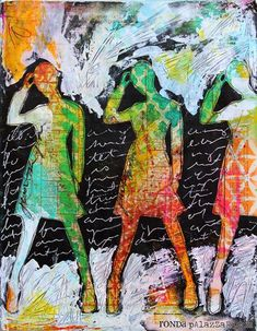 Ronda Palazzari Just Be You Art Journal - using Dina Wakley silhouettes