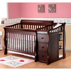 sorelle tuscany 4in1 convertible crib and changing table espresso