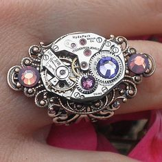Hyde Park  Steampunk Ring by Steampunkitis on Etsy, $69.00