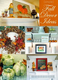Simple and affordable ideas to decorate for fall from @kristi {ishouldbemoppingthefloor}