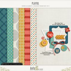 FREE Playful kit by designs by anita : May 2014 DigiScrap Parade [ more than 50 designers ! ]